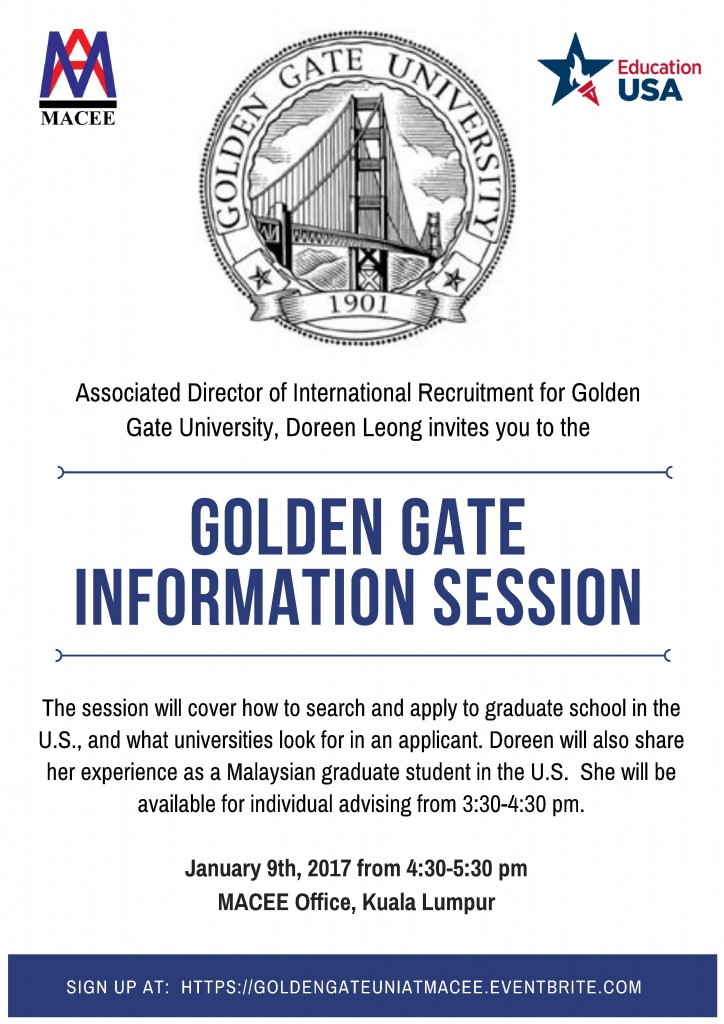Golden Gate Session Flyer